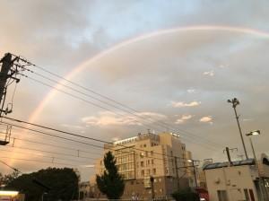 合格の連絡直前に相模原駅前にかかっていた虹